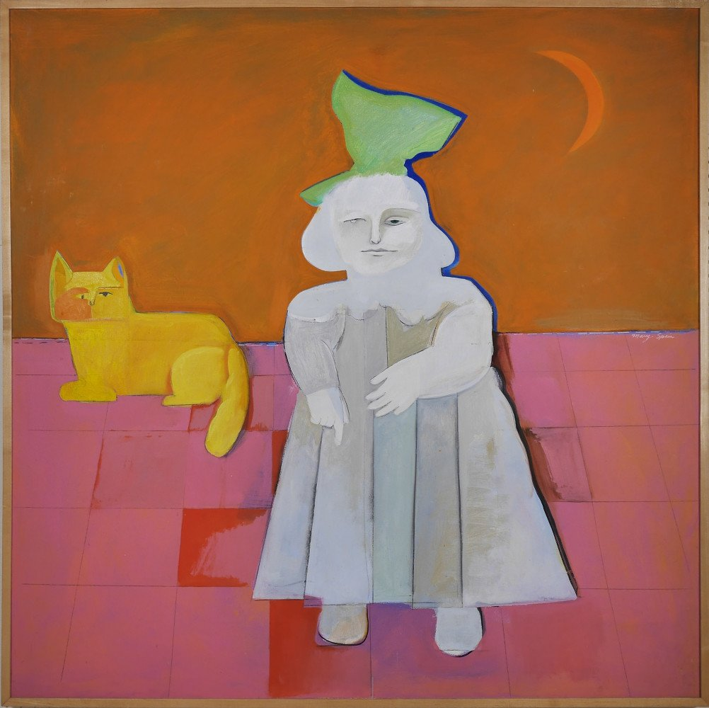Girl with a Cat by Mary Spain