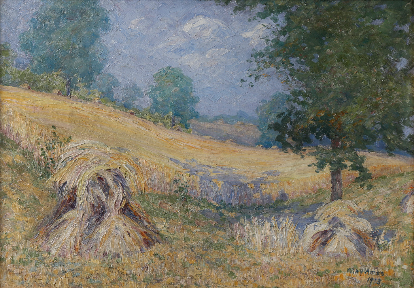 An Oat Field by May Lydia Ames