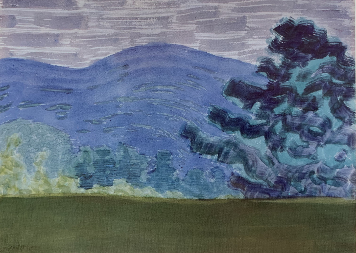Purple Mountain Landscape by Milton Clark Avery
