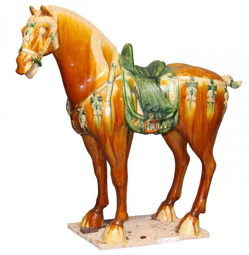 Monumental Chinese Ceramic Horse