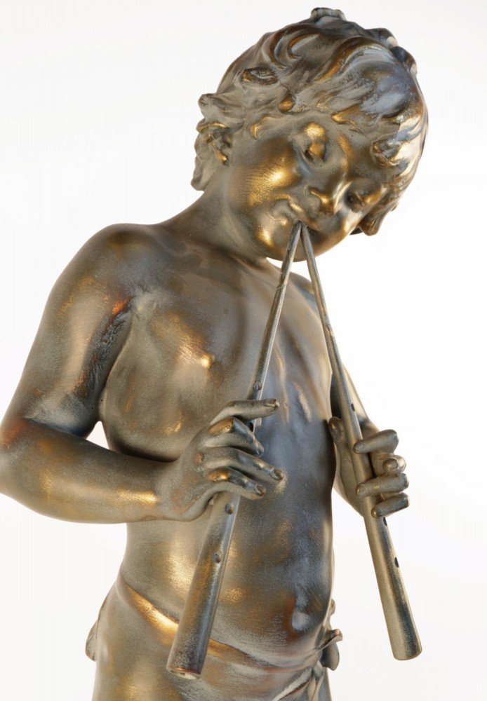 After Moreau, Bronze Boy with Pipes