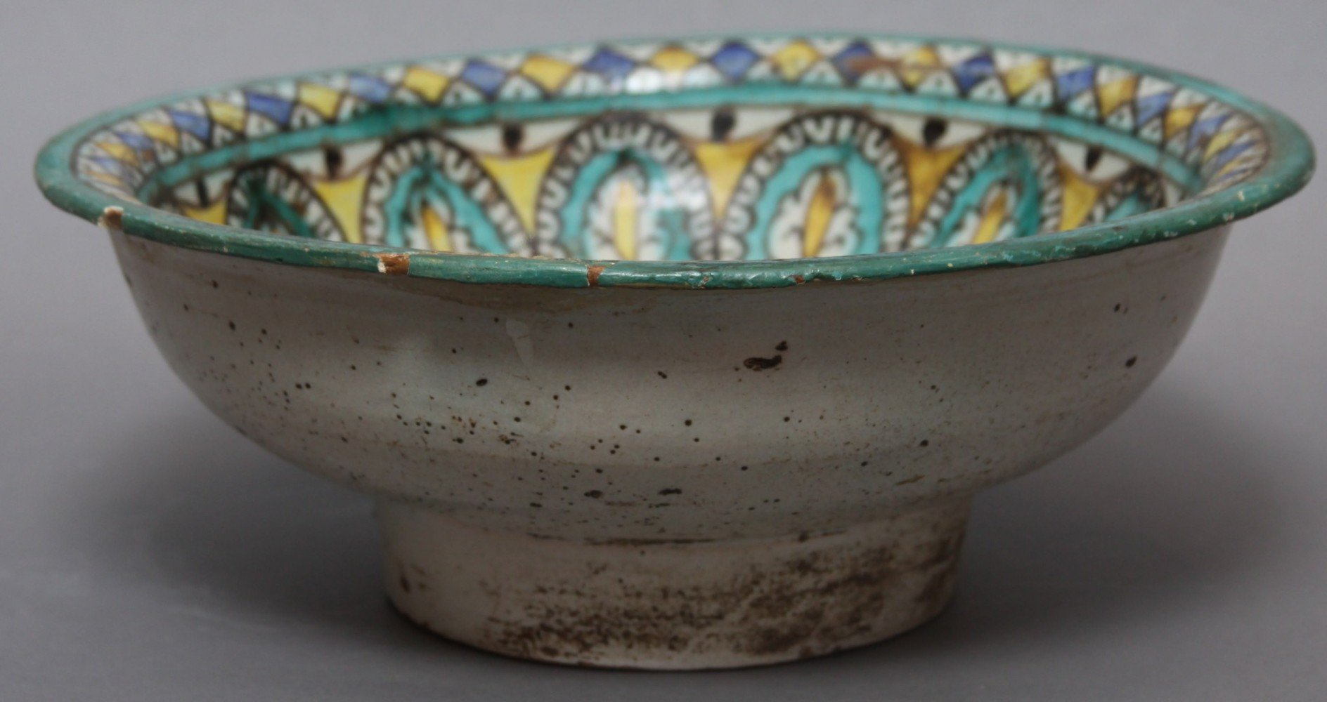 A Moroccan Tin Glazed Earthenware Bowl