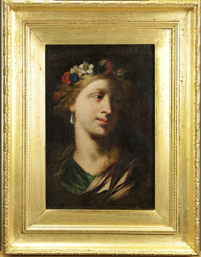 18thc. French or Italian School-Head of Goddess Flora by 18th Century Italian School