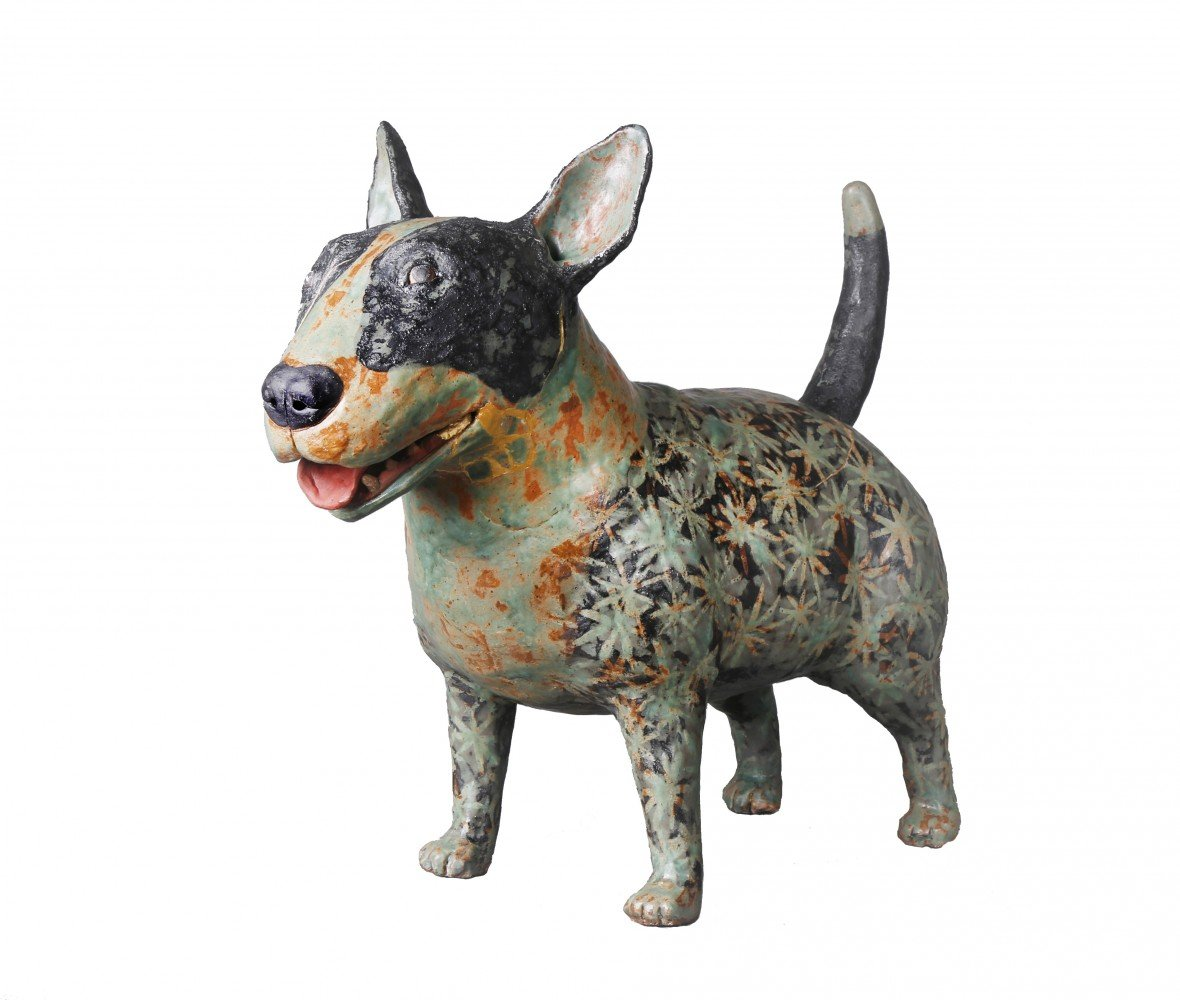 Turquoise Dog by Kristen Newell