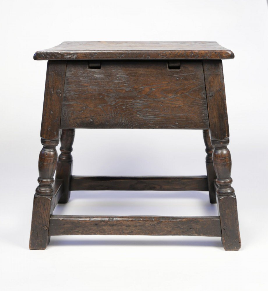 English Oak Joint Stool by 18thc. British School