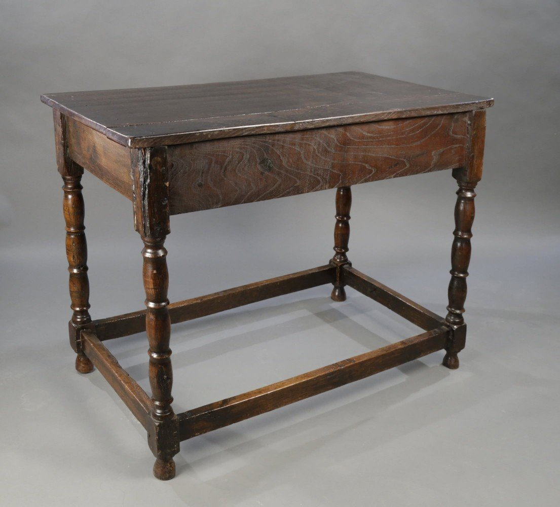 English Oak Writing Desk/ Side Table by 17thc. British