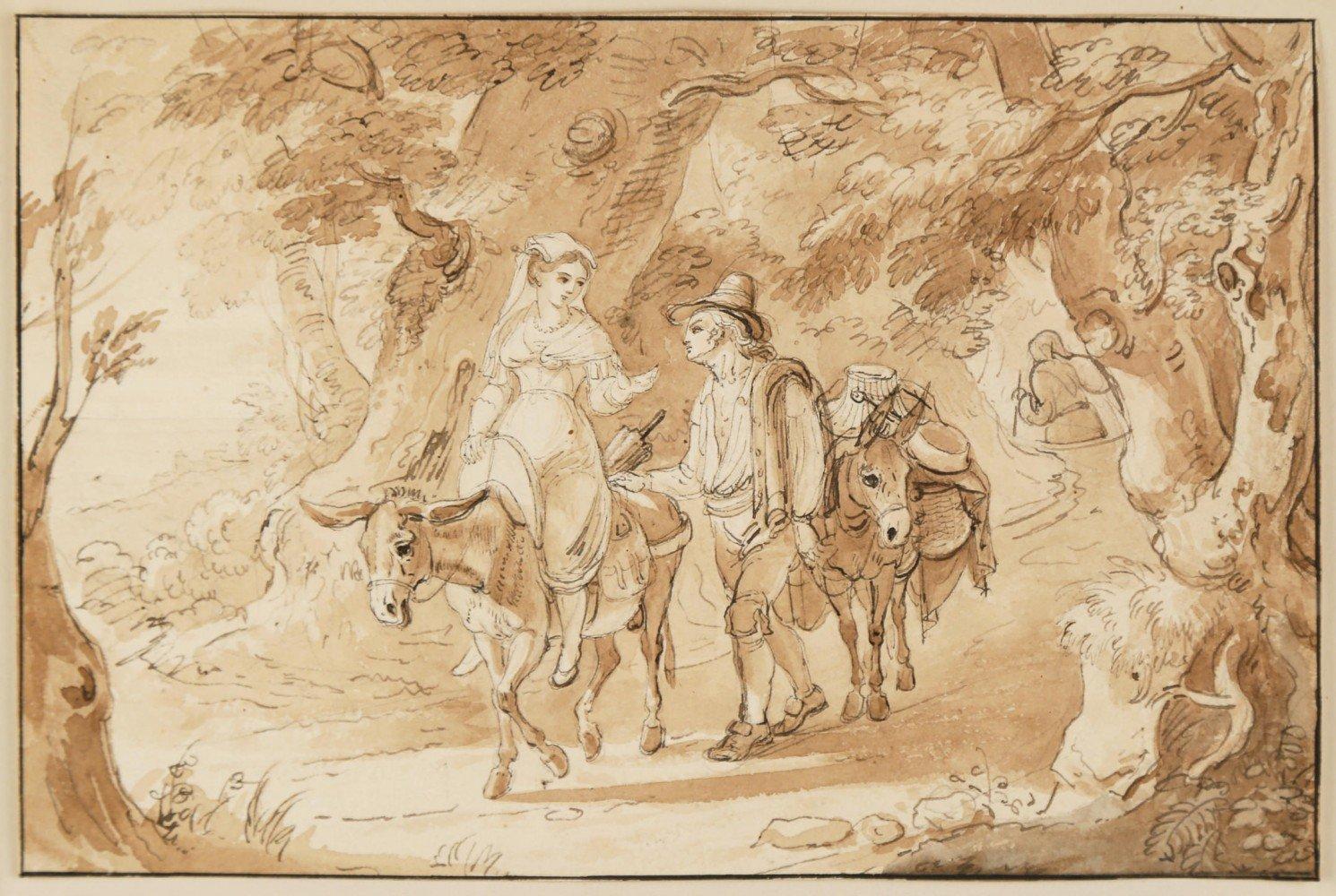 Dutch Figures in Landscape