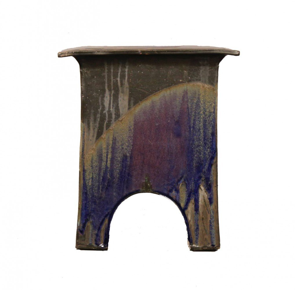 Eric O'Leary(American, 20thc.) Glazed Ceramic Stand