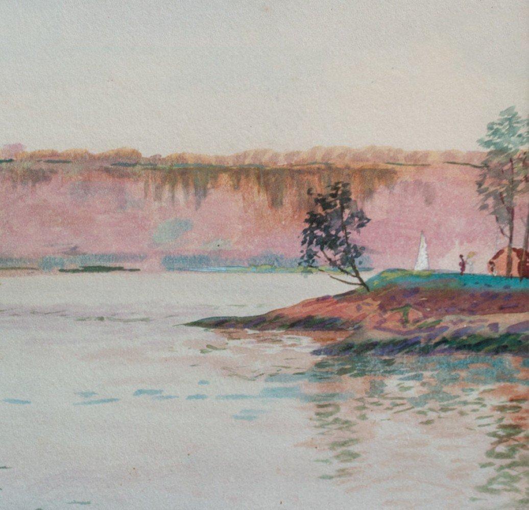 Ohio River Scene by Ora Coltman