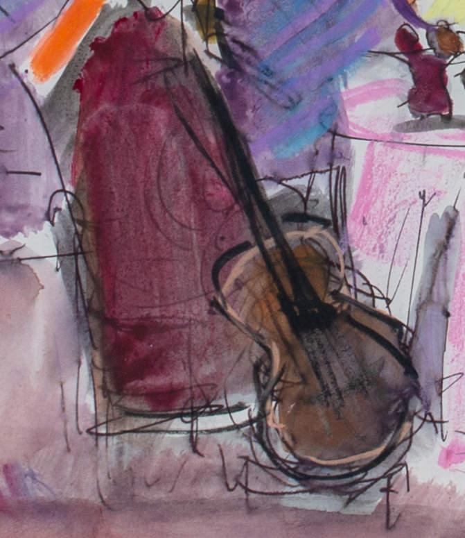 Still Life with Guitar  by Joseph Benjamin O'Sickey