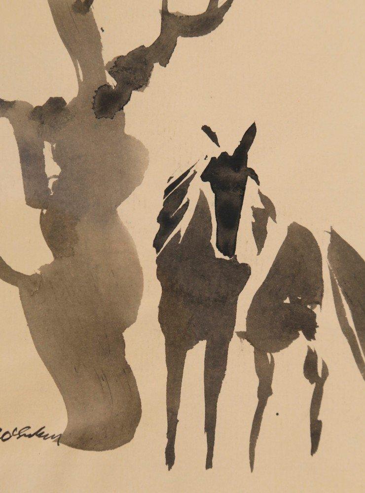 Horse and Tree by Joseph Benjamin O'Sickey