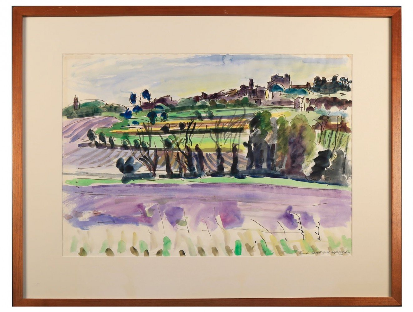 Lavender Fields at Goult by Joseph Benjamin O'Sickey