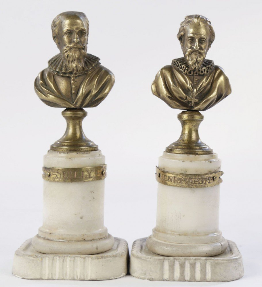 Pair Grand Tour Marble and Bronze Busts