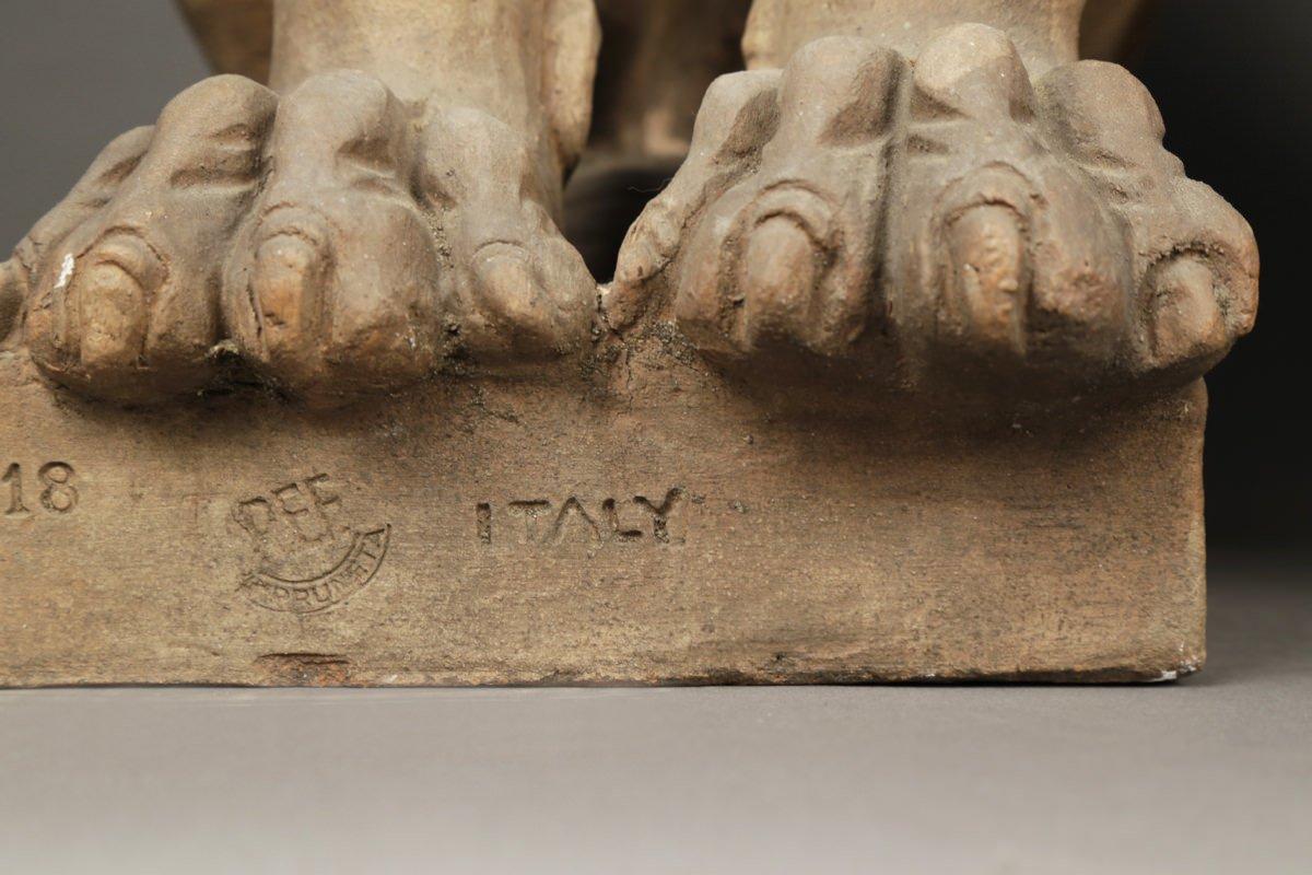 Pair of Italian Terracotta Lions