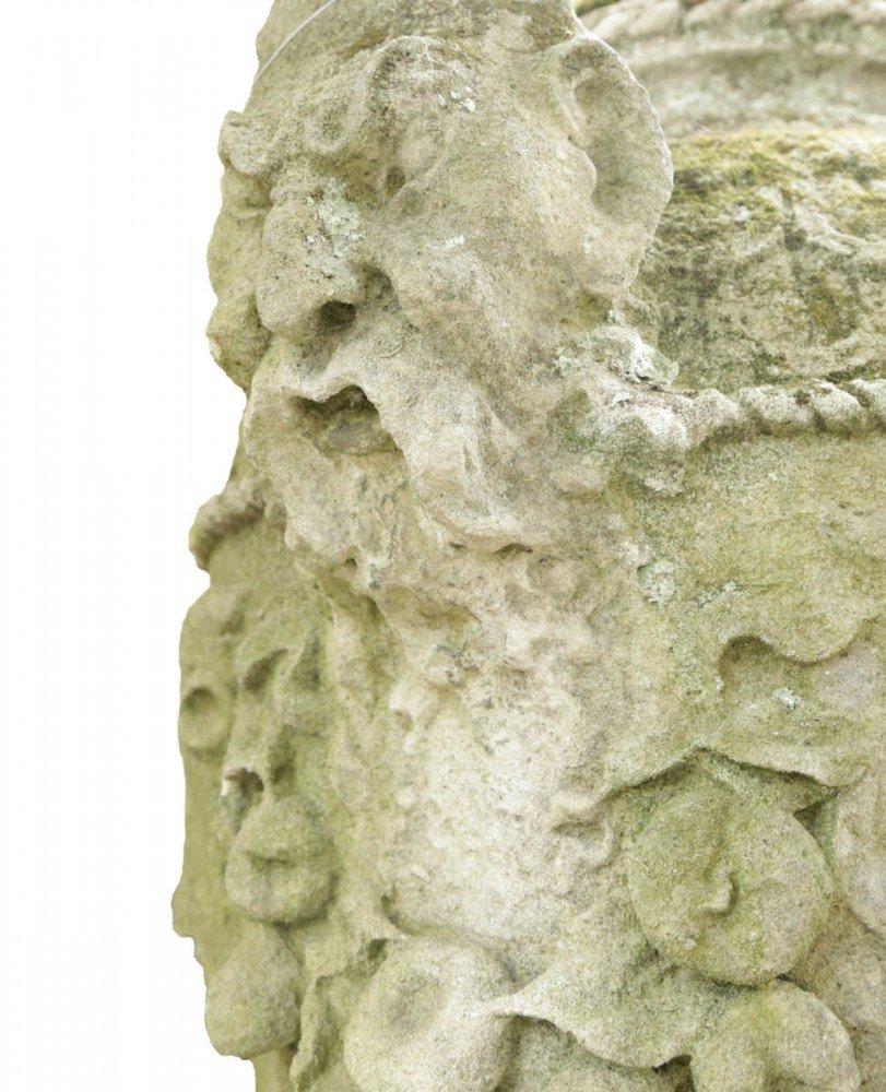 Carved Limestone Sculpture: