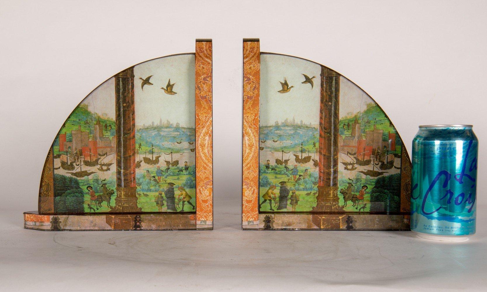 Landscape Decoupage Wood Decorative Art: