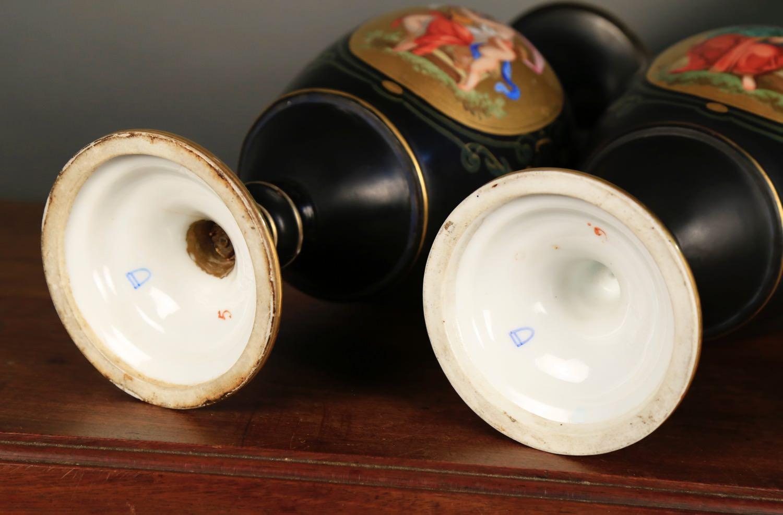 Pair of Vienna Porcelain Vases, c.1900