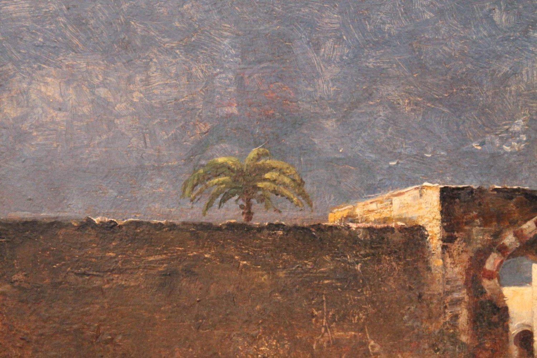 Figurative Landscape Oil on Panel Painting: