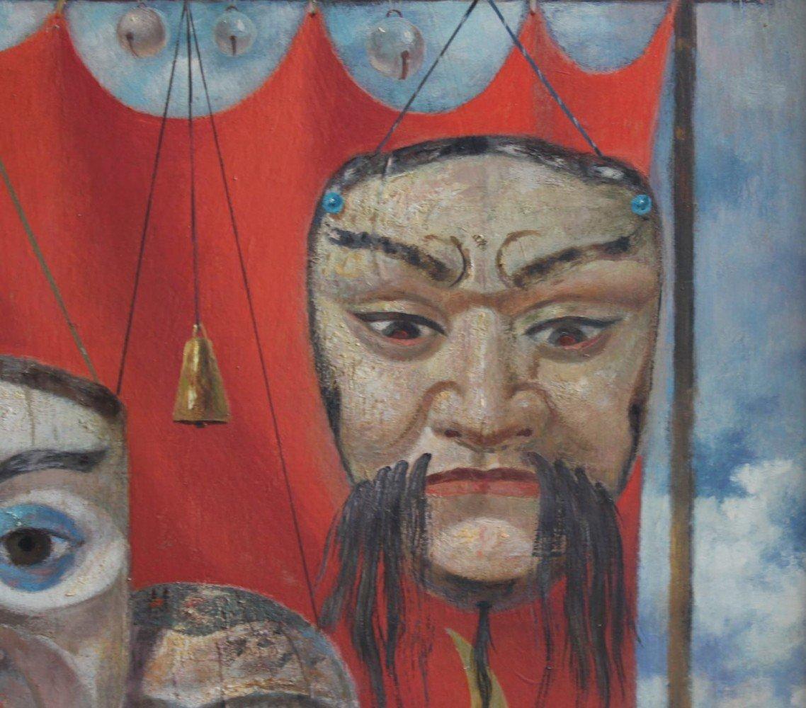 Three Masks by Paul Riba