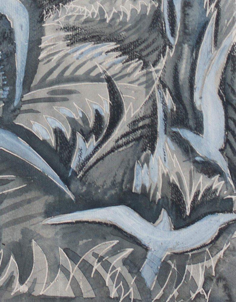 Landscape with Birds in Flight  by Paul Bough Travis