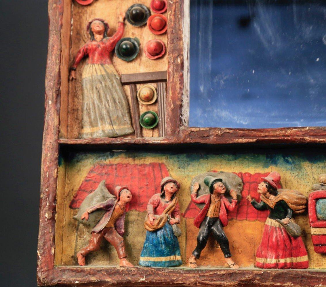 Peruvian Folk Art Mirror