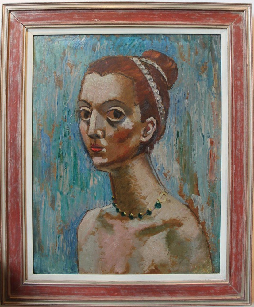 Portrait Head of a Young Woman by 20th Century American School
