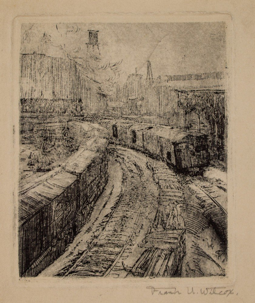R. R. Yards, Cleveland Flats, Ohio by Frank Nelson Wilcox