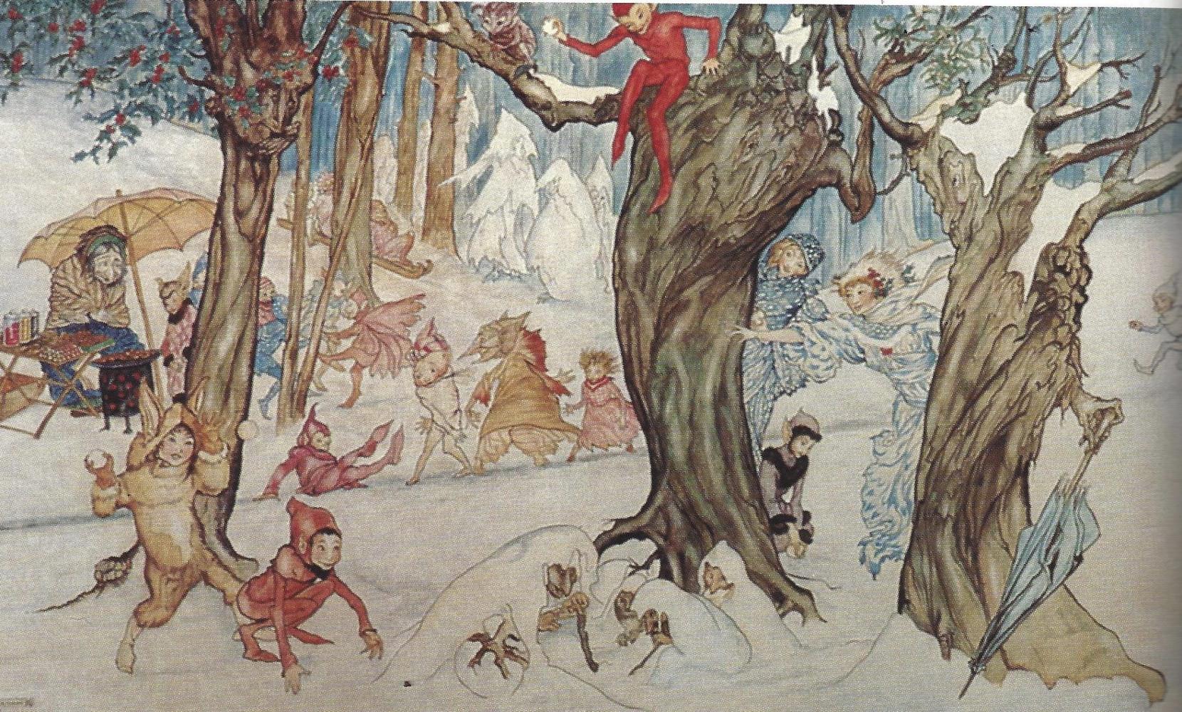 Winter Frolic by Arthur Rackham