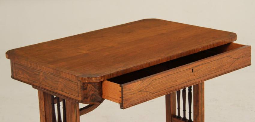 A Regency Rosewood Writing Desk / Side Table