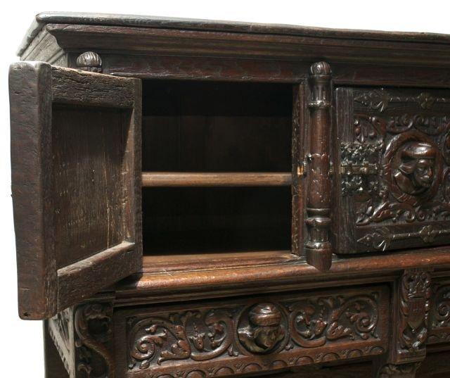 Italian Renaissance Revival Court Cupboard - Late 19th century