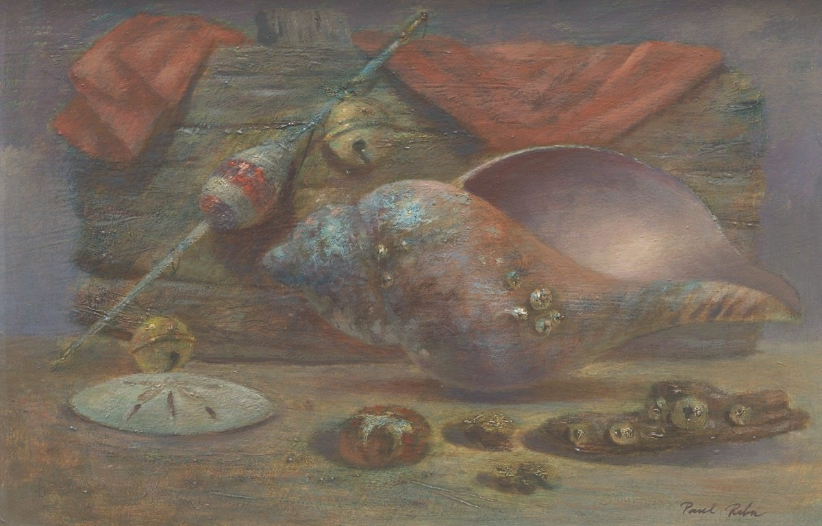 Still Life Oil on Masonite Panel Painting: