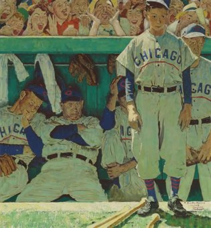 The Dugout by Norman Rockwell