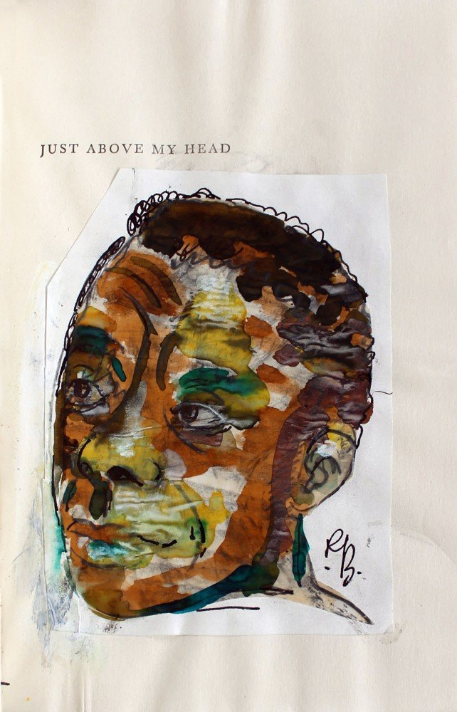 Romare Bearden Watercolor Portrait of Author James Baldwin by Romare Bearden