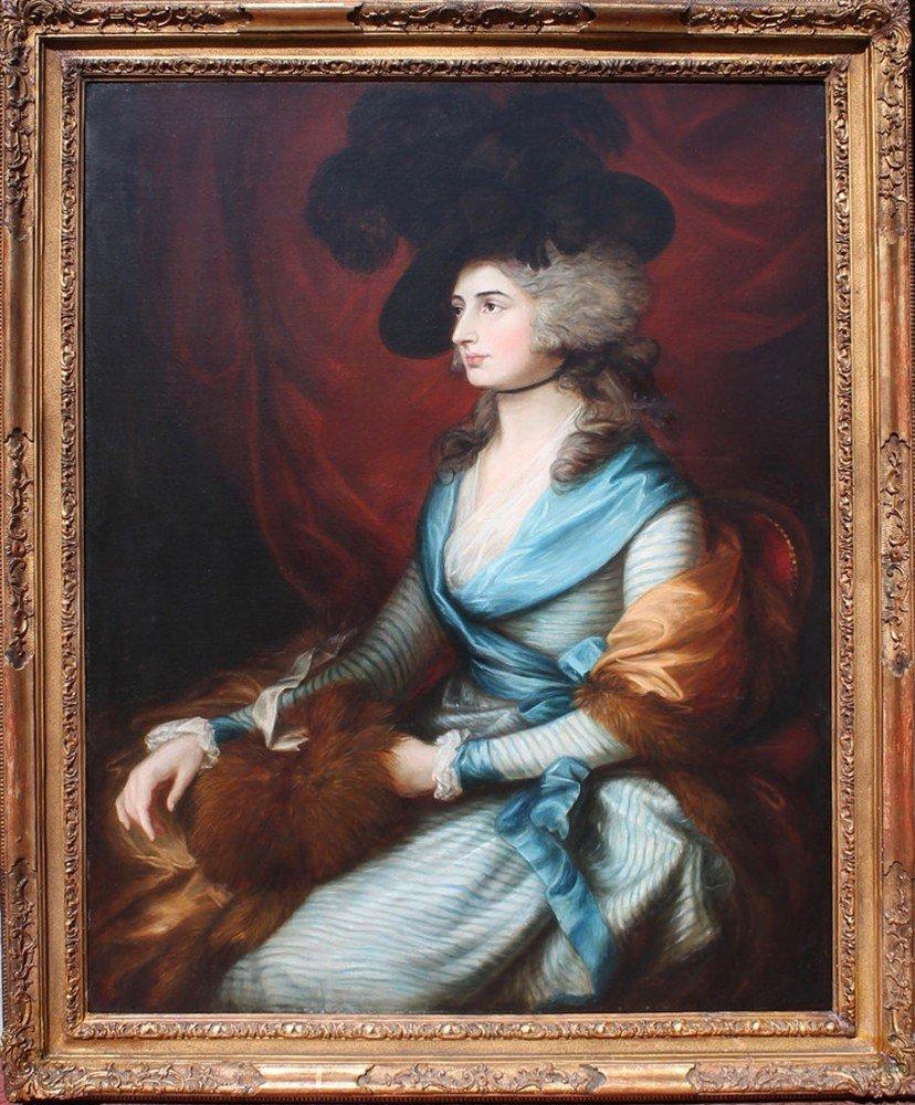 Portrait of Sarah Siddons After Thomas Gainsborough (1727 – 1788)