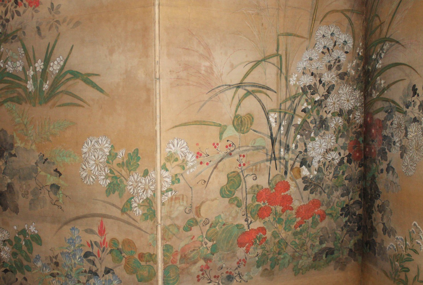 An Exceptional Pair of Edo Period Six Panel Screens by Kitagawa Sosetsu
