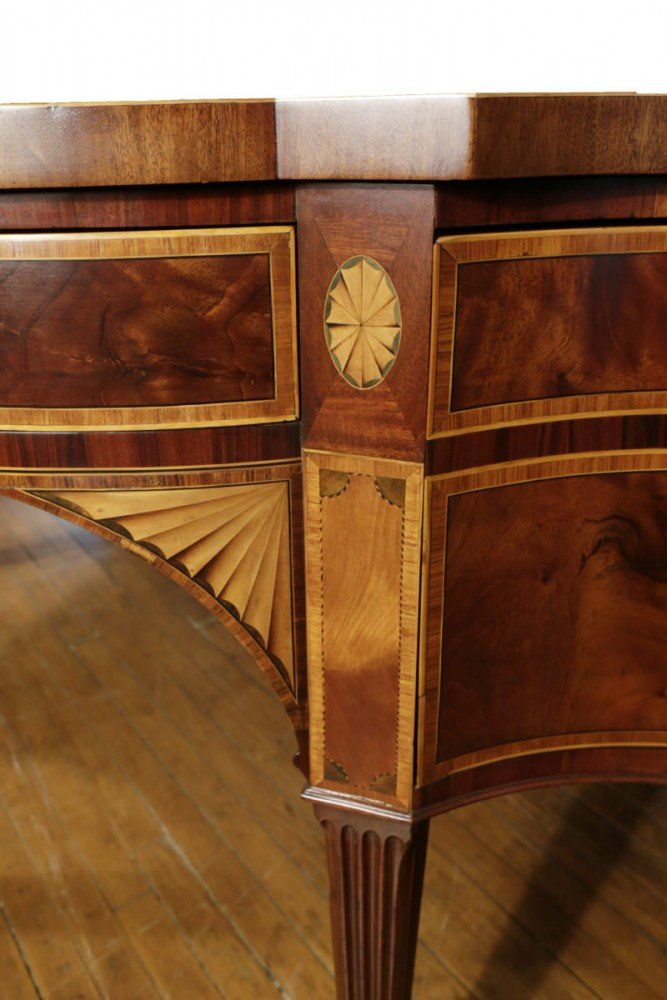 An Extremely Fine George III Mahogany Inlaid Sideboard, from the estate of J. L. Severance and attributed to Gillows and Co. by 18thc. British School