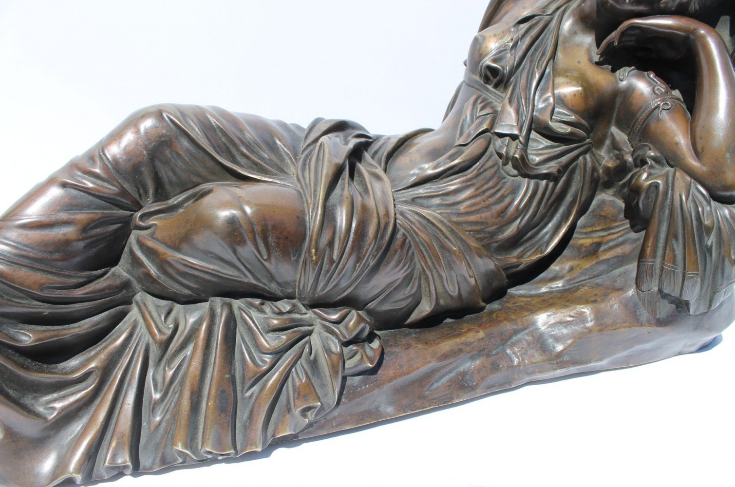 The Sleeping Ariadne, 18th century bronze after the antique