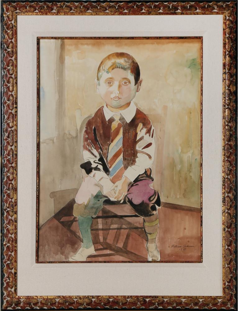 Boy with Striped Necktie by William Sommer