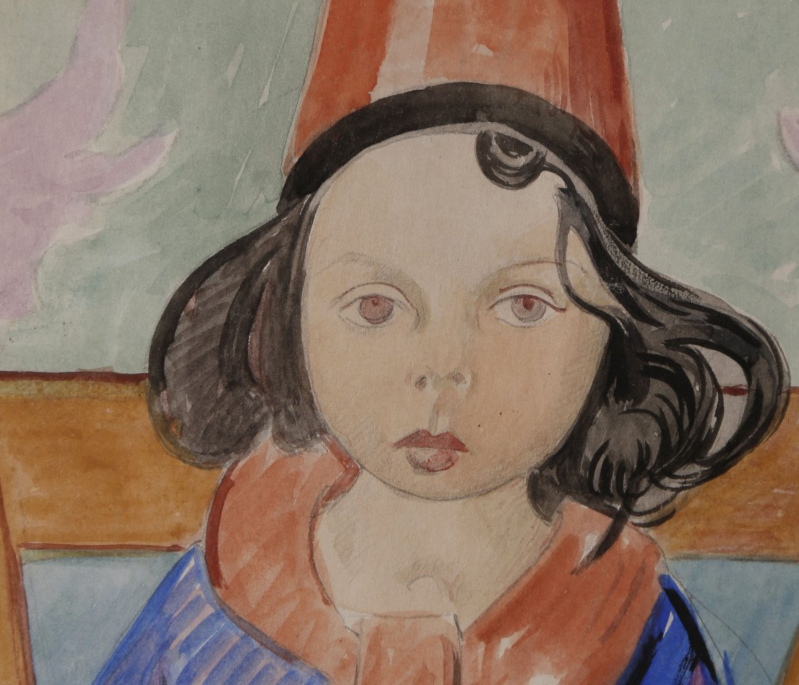 Girl in a Red Fez by William Sommer