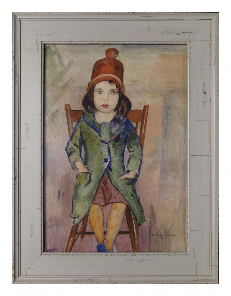Girl in Green Coat by William Sommer