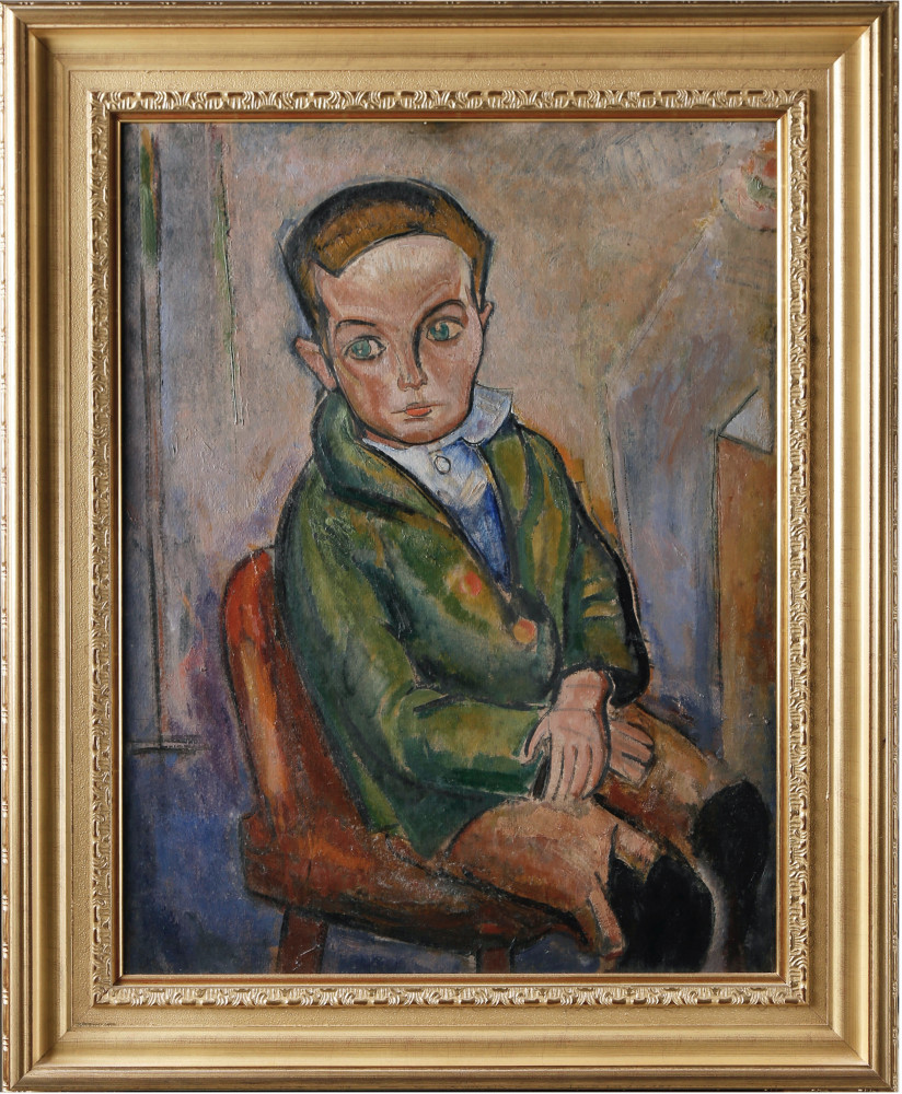 Seated Boy by William Sommer