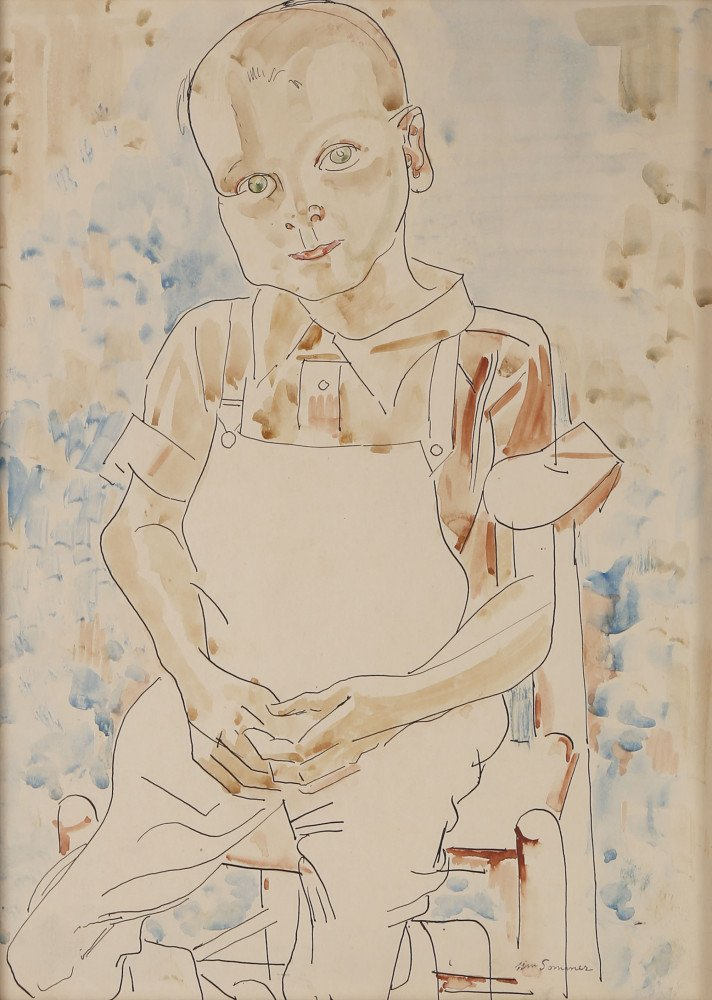 Young Worker by William Sommer