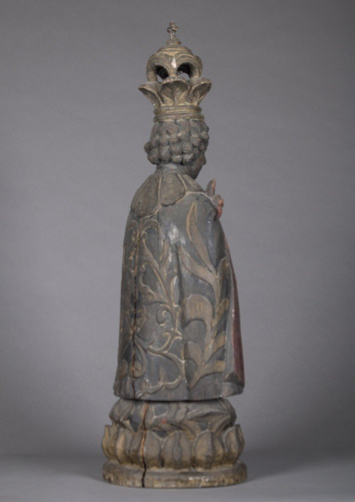 South American Santos Figure Depicting and Unnamed Sainted Priest, Mid 19th Century