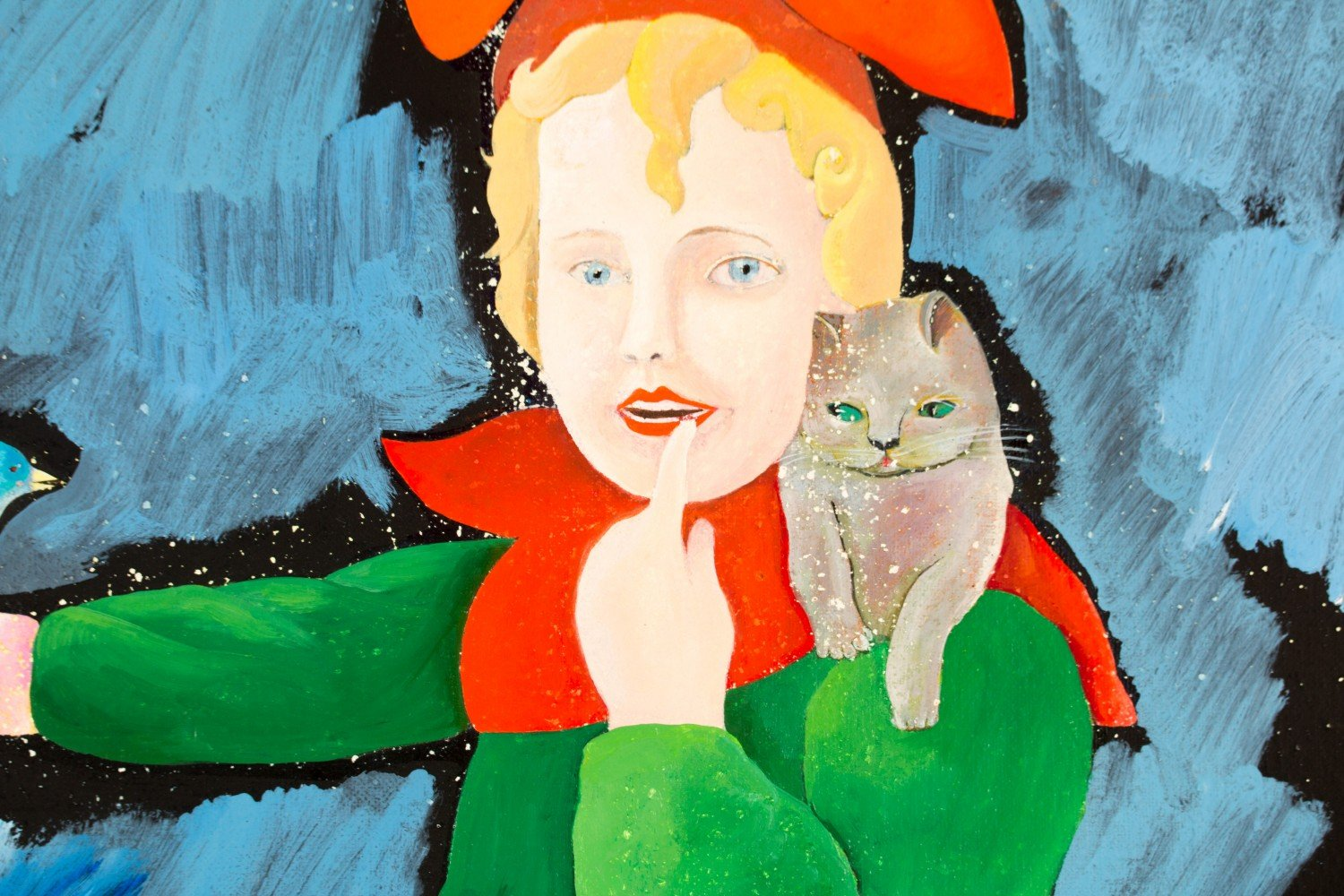 Girl with a Bird by Mary Spain