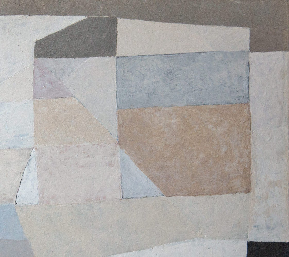 Abstract Oil on Masonite Painting: