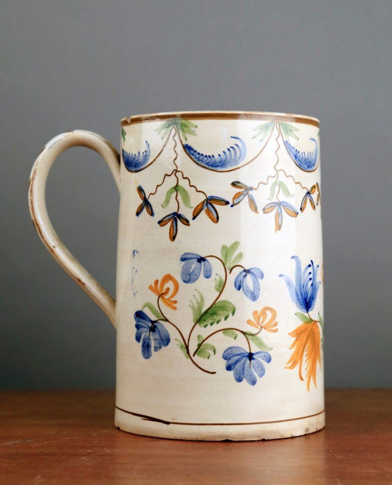 English Creamware Tankard, 18thc.