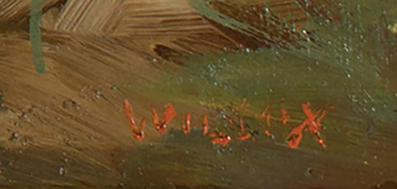 Figurative Landscape Oil on Board Painting: