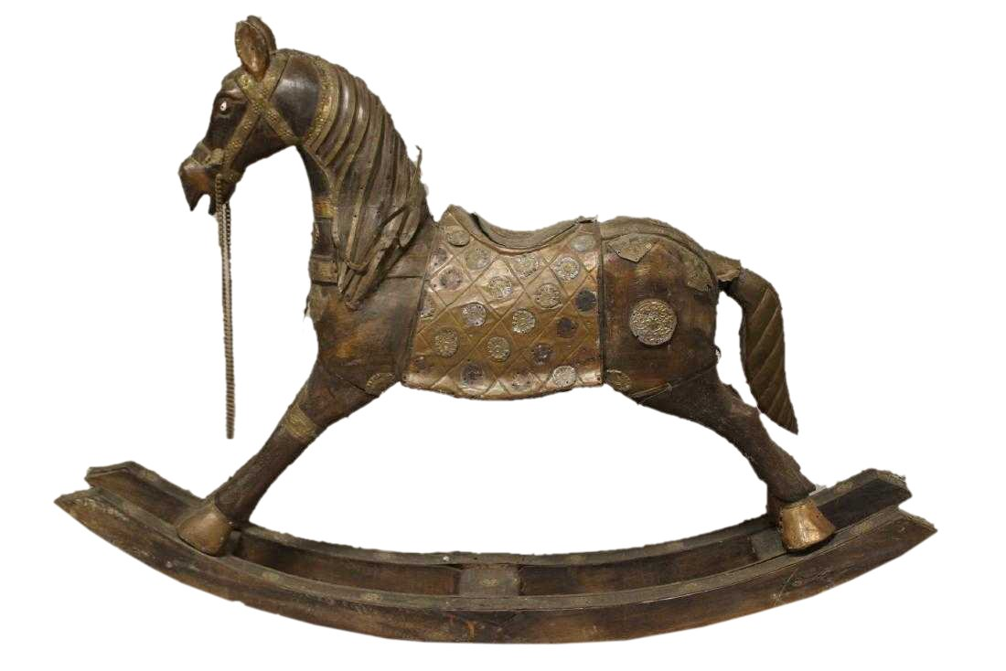 Animal Wood, Brass, and Copper Sculpture: