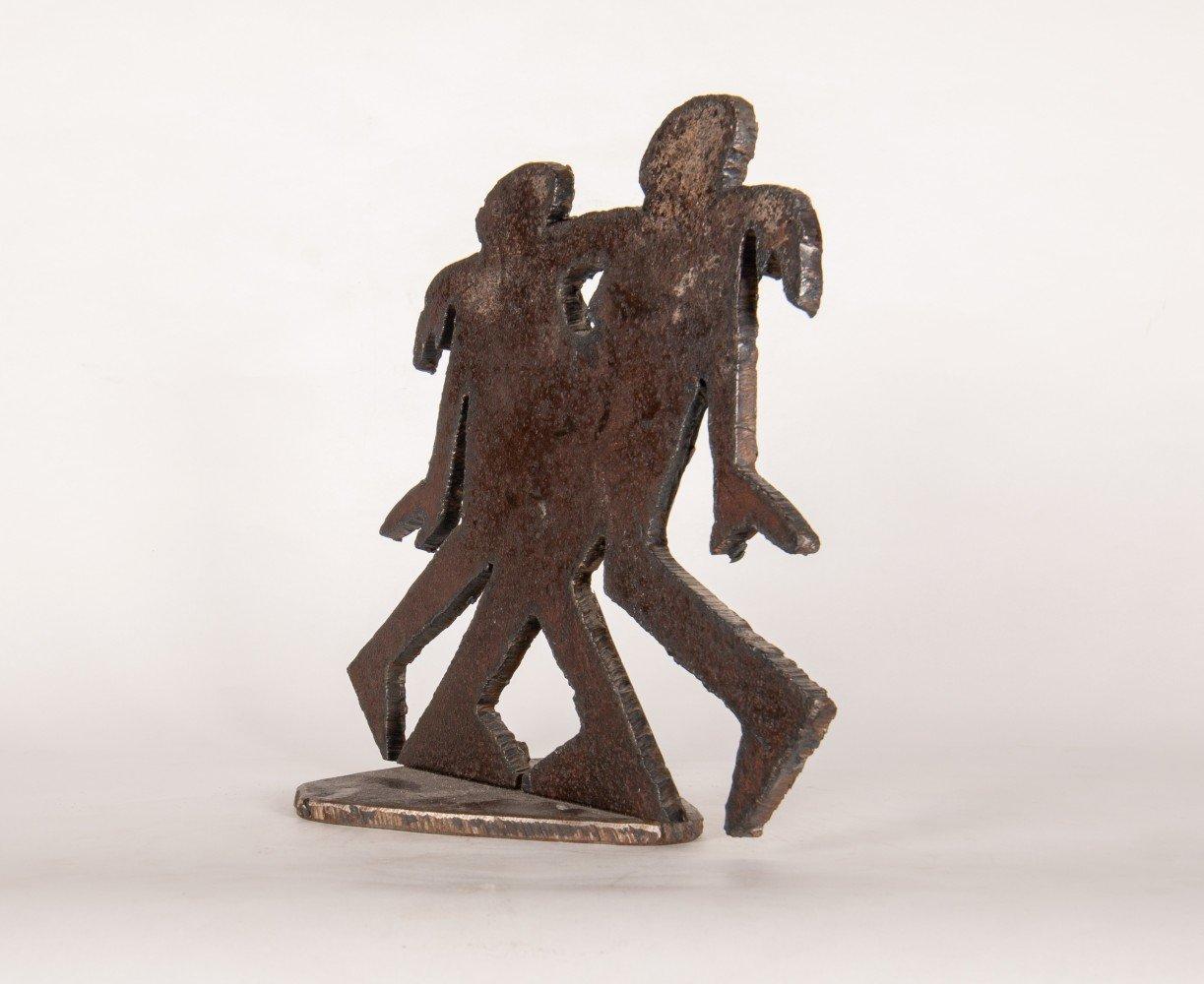 Figurative Flat Iron Sculpture: