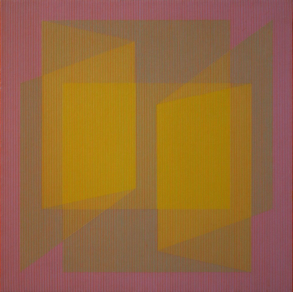 Unfolding Yellow by Julian Stanczak